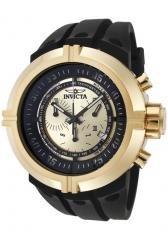 Invicta Men's Force Chronograph Gold Dial Black Polyurethane