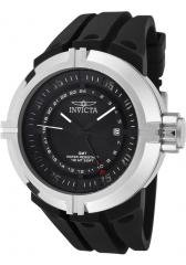Invicta Men's Force GMT Black Dial Black Polyurethane