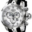 Invicta Men's Reserve Chronograph Silver Dial Black Rubber.