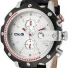 Dolce & Gabbana Men's Sean Chronograph Silver Dial Black Leather