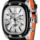 Glam Rock Gulfstream Chronograph Silver Dial Black/Orange Nappa Leather