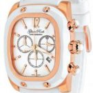 Glam Rock Gulfstream Chronograph White Textured Dial White Silicon