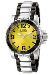 Invicta Men's Reserve Yellow Dial Black Ion Plated & Stainless Steel