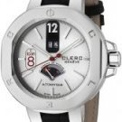 Clerc Men's Icon 8 Automatic Silver Dial Black Genuine Crocodile
