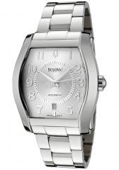 Accutron by Bulova Men's Swiss Made Automatic Silver Dial Stainless Steel