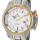 Accutron by Bulova Men's Swiss Made White Dial Two Tone Stainless Steel