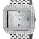 Christian Bernard Women's Intimate White Crystal White Mother Of Pearl Dial Stainless Steel (L)