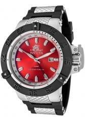 Invicta Men's Subaqua GMT Red Dial Black Polyurethane & Stainless Steel