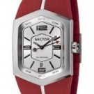 Sector Men's Winch Master Silver Dial Red Rubber