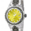 Invicta Midsize Men's Reserve GMT Yellow Dial Stainless Steel & Gunmetal