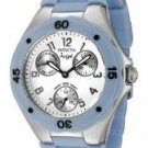 Invicta Women's Angel White Dial Baby Blue Silicone