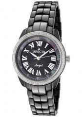 Invicta Women's Angel Diamond Black Dial Black Ceramic