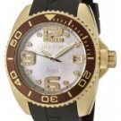Invicta Women's Angel White Crystal Mother of Pearl Dial Dark White Rubber