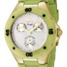 Invicta Women's Angel White Dial Lime Green Silicon