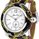 Glam Rock Women's Miami White Diamond White Enamel Dial Green Python