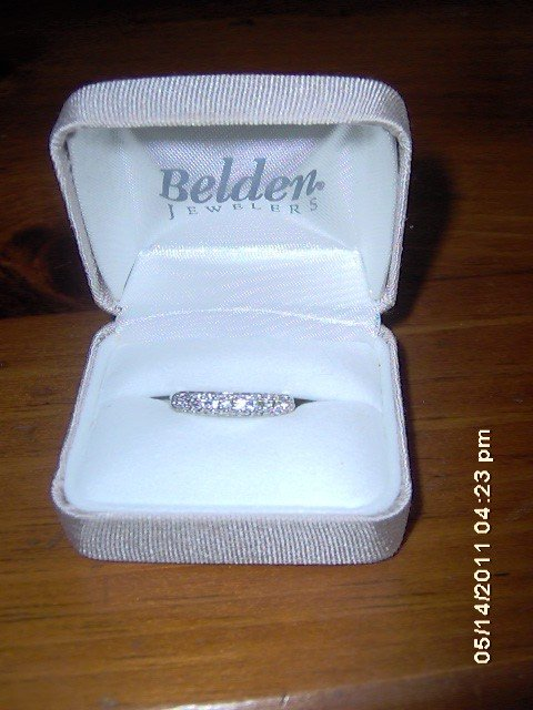 Gorgeous CZ Semi-Eternity Ring P52 Size 6