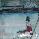 Nautical Theme Rod Pocket Curtains W/Tiebacks