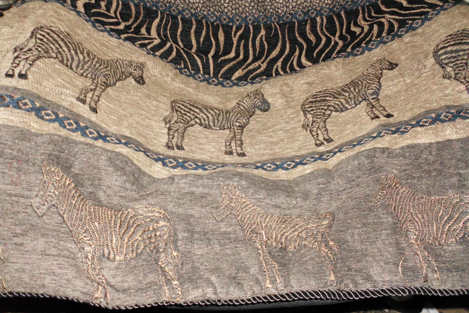 New Zebra Jacquard Pillow Sham