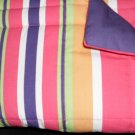 2 New Reversible Pillow Shams Stripe/Solid