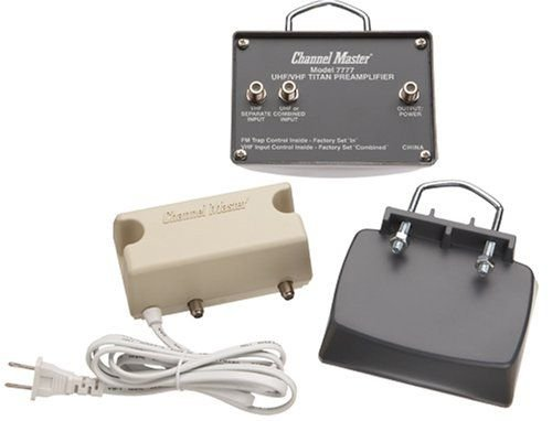 Channel Master CM-7777 Preamplifier, HDTV Antenna signal amplifier preamp open box item