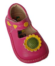 SQUEAKER SNEAKERS Hot Pink Sunflower Shoe