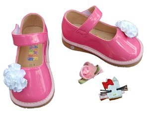 SQUEAKER SNEAKERS Hot Pink Mary Jane Clippy