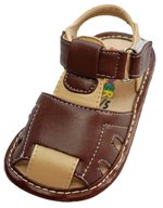 Squeaker Sneaker Brown/Tan Sandal