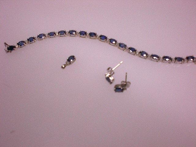 Sapphire Bracelet Set