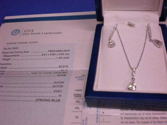 G.I.A. Diamond Necklace