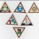Lot of 6 Brownie Girl Scout Try-Its Patches