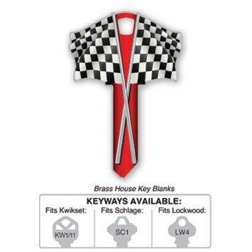 Key Blank: B116S CHECKERED FLAG SCHLAGE