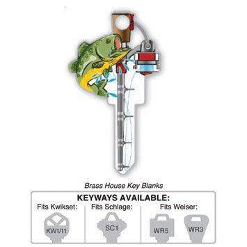 Key Blank: B117W FISHING KEY SHAPES,WEISER