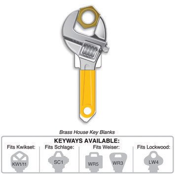 Key Blank: B123W WRENCHKEY SHAPES,WEISER