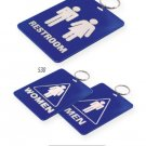 Key Chains: MEN/WOMEN COMBO RESTROOM TAG