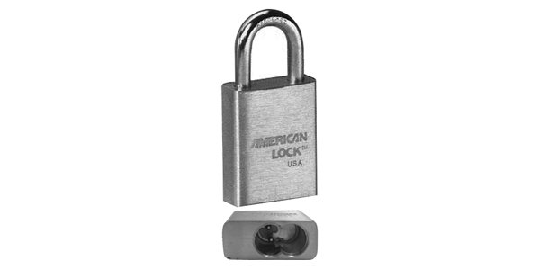 "Padlocks: American Lock A3560WO 1-3/4""BRASS,1-1/8""SHACKLE,L/CY"