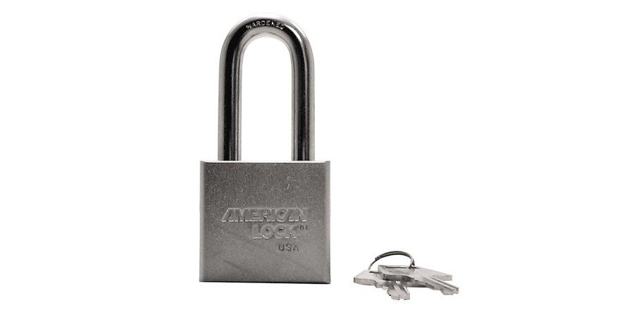 """Padlocks:American Lock A5261 KA 43376 2""""WIDE,3/4""""THICK,2""""SHACKLE,STE"""