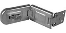 "Hasps:American Lock Hasps A875D SINGLE HINGE,6-1/4""X1-3/4"",CAR"