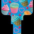 Key Blanks: Key Blank AC6 - Cupcakes -Schlage