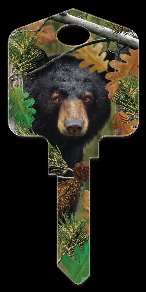 Key Blanks: Key Blank DPW1 - Black Bear - Kwikset