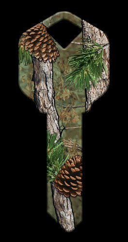 Key Blanks: Key Blank HK49 - Pine Camouflage- Weiser