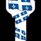 Key Blanks: Key Blank HK50 - Quebec Flag - Schlage