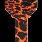 Key Blanks: Key Blank HK8 - Tiger Print- Kwikset