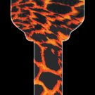 Key Blanks: Key Blank HK8 - Tiger Print- Weiser