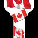 Key Blanks: Key Blank HK28 - Canadian Flag- Schlage