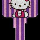 Key Blanks: Key Blank SR10 - Hello Kitty Glitter- Kwikset
