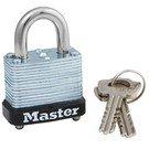 Padlock: Master Lock Model No. 105D Laminated Steel Warded Padlock