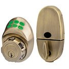 Door Handle Set: Master Lock Model No. DSKP0605D135 Electronic Keypad Deadbolt