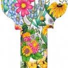 Key Blanks:Model -WILD FLOWERS Key Blanks - Kwikset