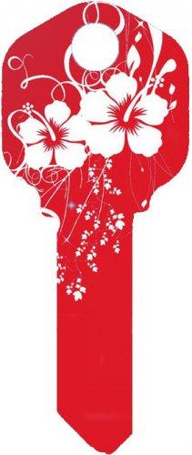 Key Blanks:Model:RED HIBISCUS Key Blanks - Kwikset