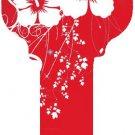 Key Blanks:Model:RED HIBISCUS Key Blanks - Schlage